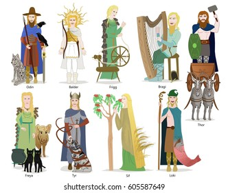 Norse god and goddesses