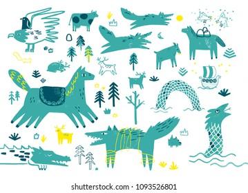 Norse mythology animals