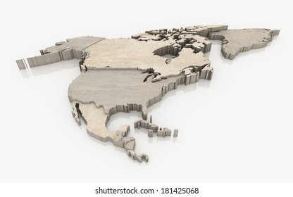 north america continent - concrete surface