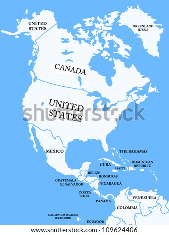 north america map countries stock illustration 109624406 shutterstock