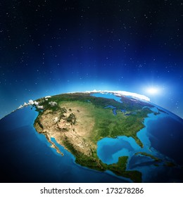 North America from space. Elements of this image furnished by NASA