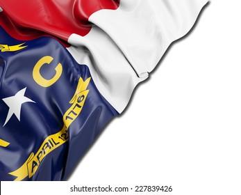 North Carolina Flag with white