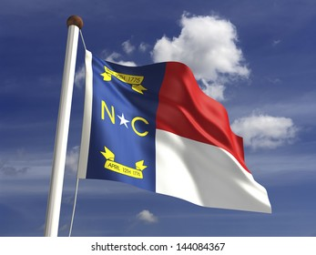 North Carolina flag (with clipping path)