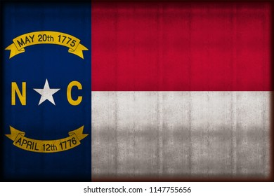 North Carolina rusty flag illustration. Usable for background and texture.
