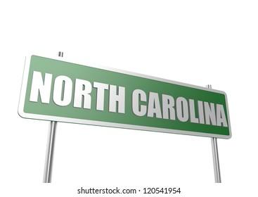 North Carolina sign board