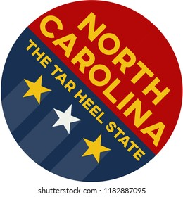 north carolina: the tar heel state | digital badge