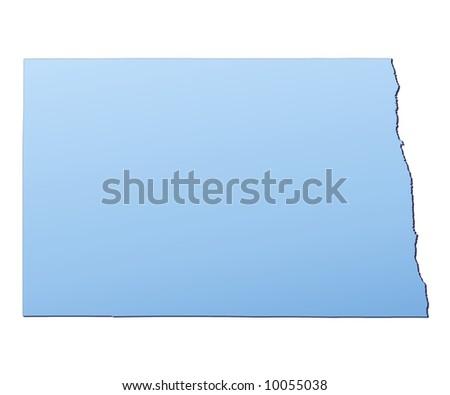 North Dakota USA Map Filled Light Blue Stockillustration 10055038 ...