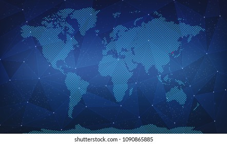 Suriname Digital World Map Stock Illustration 1095873302 - Shutterstock