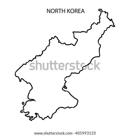North Korea Map Outline Stock Illustration Royalty Free Stock