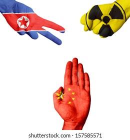 North Korea Nuke China rock-paper-scissors