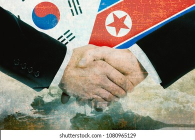 North Korea - South Korea peace concept