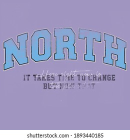 North print design for t shirt, tee, sweatshirt and other uses.