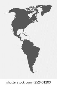Black White Map North South America Stock Vector (Royalty Free ...