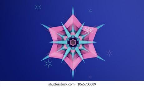 north star facets wallpaper, geometric design