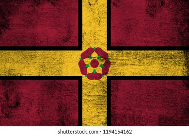 Northamptonshire grunge and dirty flag illustration. Perfect for background or texture purposes.