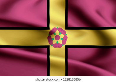Northamptonshire modern and realistic closeup flag illustration. Perfect for background or texture purposes.
