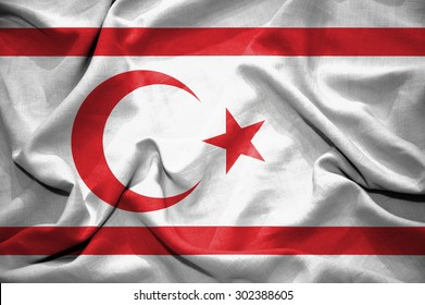 Northern Cyprus flag. illustration