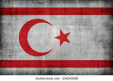Northern Cyprus flag pattern, retro vintage style