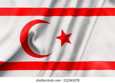 Northern Cyprus flag texture crumpled up