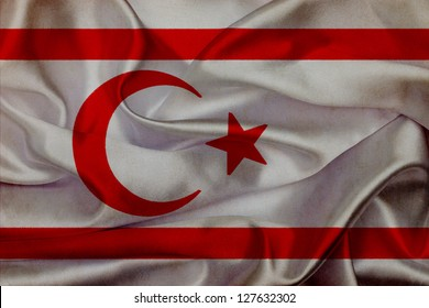 Northern Cyprus grunge waving flag