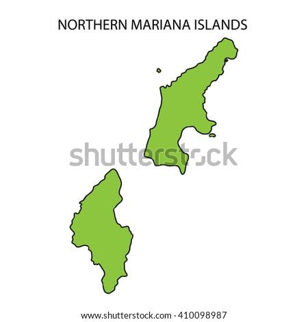 Northern Mariana Islands Map Stock Illustration 410098987 - Shutterstock