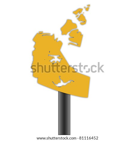 Northwest Territories Canada Map.Royalty Free Stock Illustration Of Northwest Territories Canada Map
