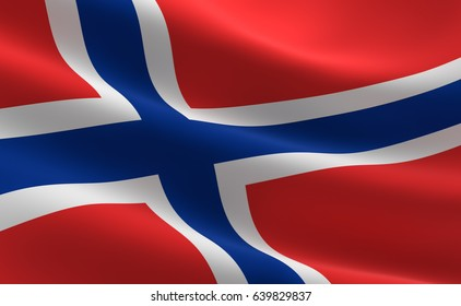 Norway flag. Illustration of the Norway flag waving.