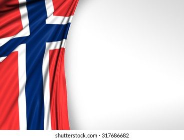 Norway Flag, Norwegian Background