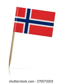 Norway flag toothpick on white background