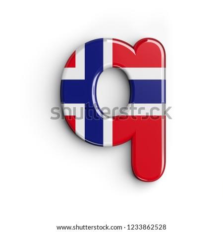 Norway Letter Q Small 3 D Norwegian Stock Illustration   Royalty