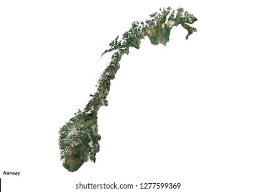 Norway Map (3D illustration)