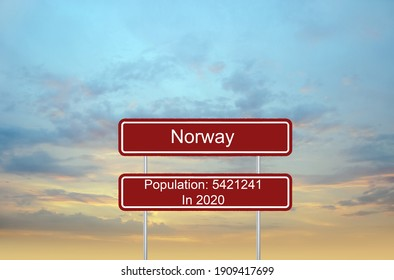 Norway Population traffic signs info