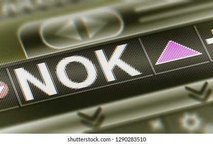 Norwegian krone. Up. 3D Illustration.
