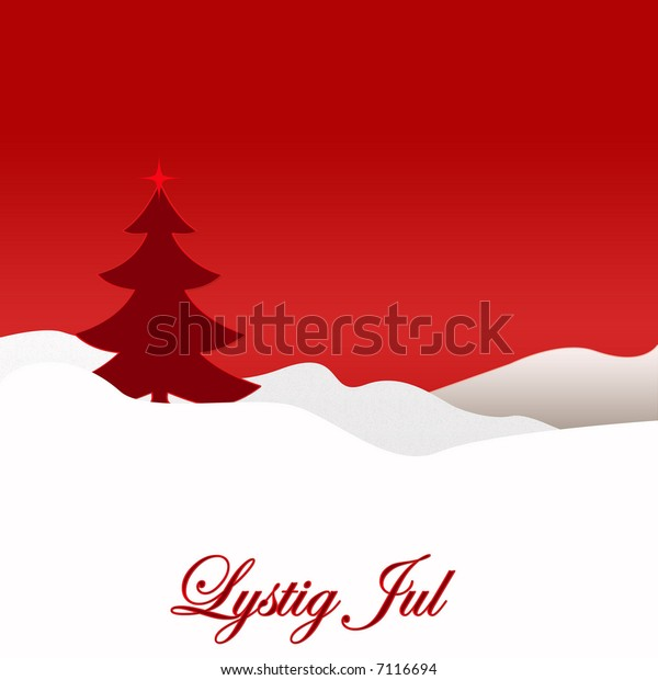 Merry Christmas In Norwegian.Norwegian Merry Christmas Stock Illustration 7116694