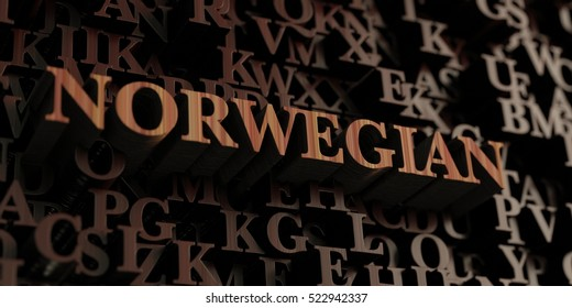 Norwegian - Wooden 3D rendered letters/message.  Can be used for an online banner ad or a print postcard.