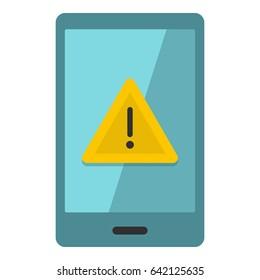 Not working phone icon flat isolated on white background  illustration