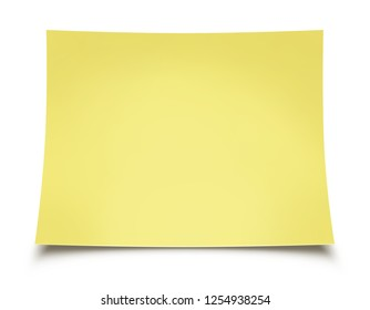 Note Paper isolated on white background illustration, digital painting