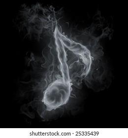 Note symbol - Smoke effect