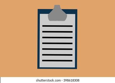 Notebook illustration icon
