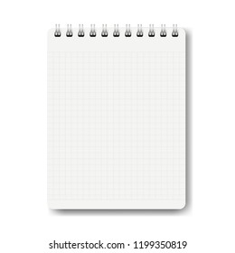 Notebook Isolated White Background