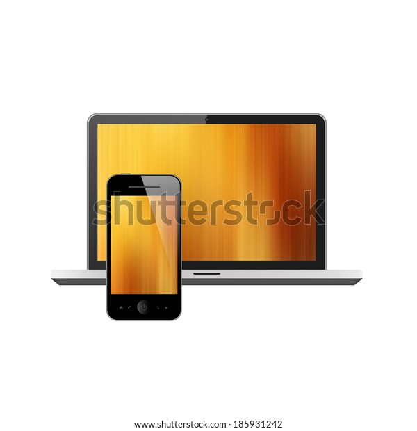 Notebook and mobile phone