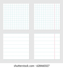 notebook paper texture cell lined template stock vector royalty