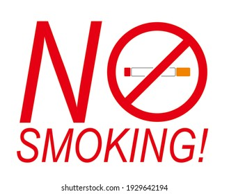 The notice of no smoking sign fo public