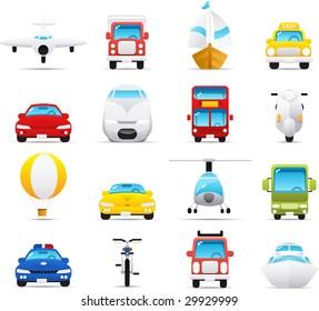 Nouve vector icons. Transportation icon graphics