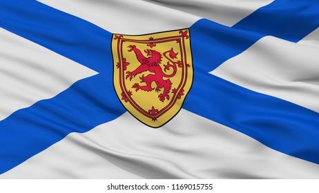 Nova Scotia City Flag, Country Canada, Closeup View, 3D Rendering