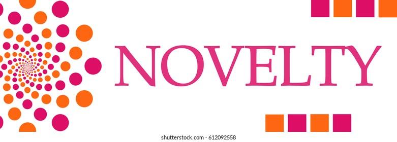 Novelty Pink Orange Dots Horizontal