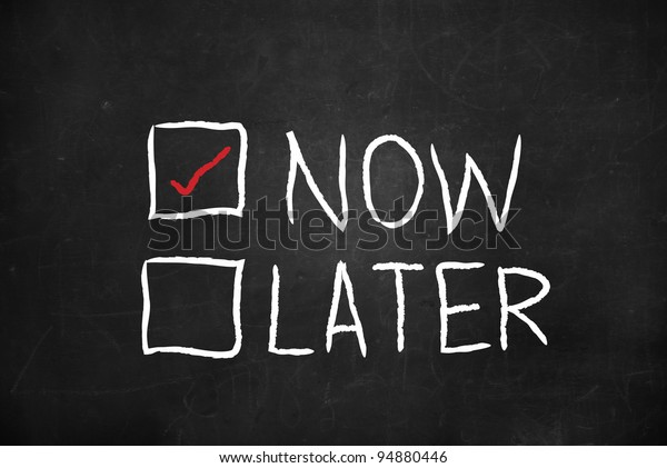 Now and Later check boxes on blackboard