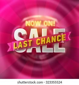 Now on, last chance sale illustration