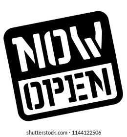 Now open stencil stamp. Rectangular bold sign, label.