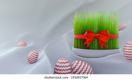 Nowruz Persian New Year background - 3d rendering